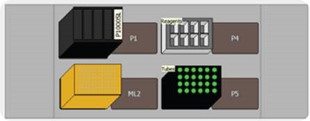 Deck Layout of the Biomek 4000 Workstation Showing the Basic Tools Required for Gradient Prep
