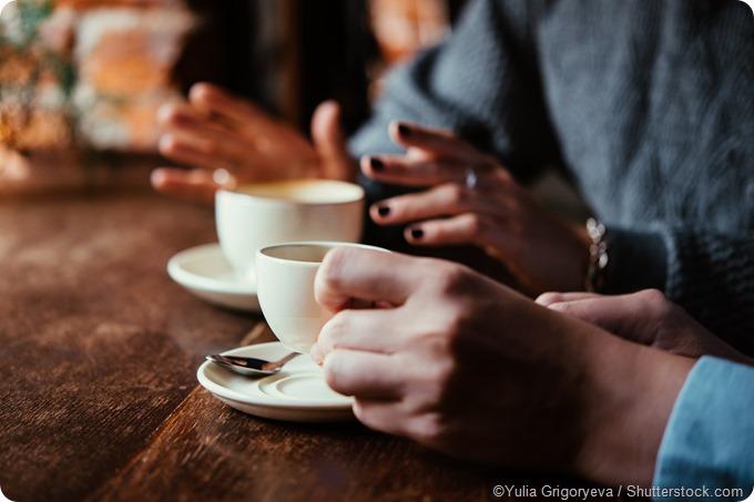 coffee shop talking