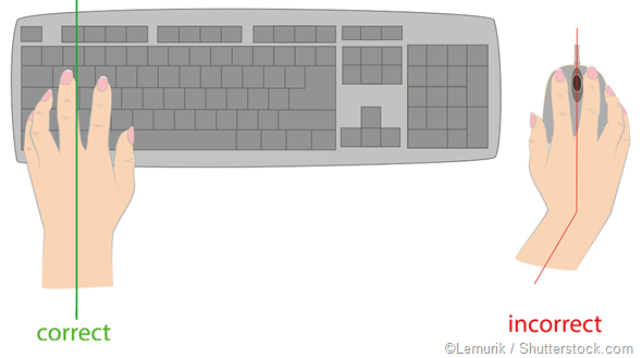 keyboard hand position