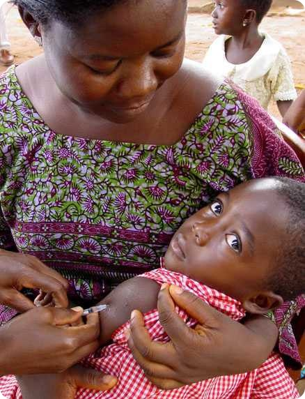 Measles vaccination in Togo