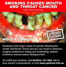 An Australian Quit Smoking Message from a cigarette package